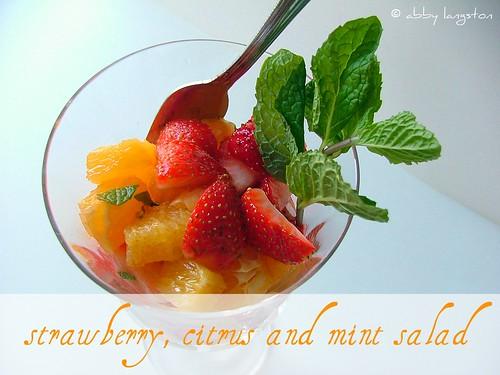 Strawberry, Citrus and Mint Salad