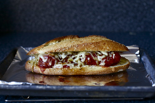 meatball sub, all melted up