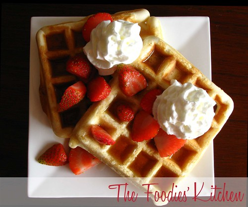 Condensed Milk Waffles