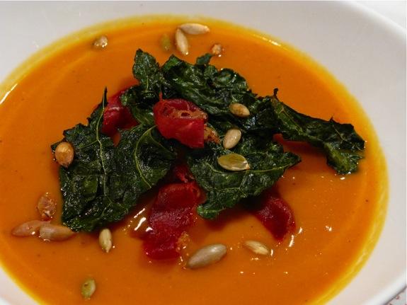 butternut squash soup kale 003