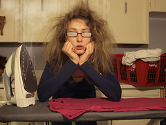 Day 78 - Humidity is not my friend - Explored #81 (GillyFace) Tags: girl shirt work glasses hands funny iron day basket board humor womens steam housework laundry condensation stress washing humidity humid project365 365days pullfolioportrait
