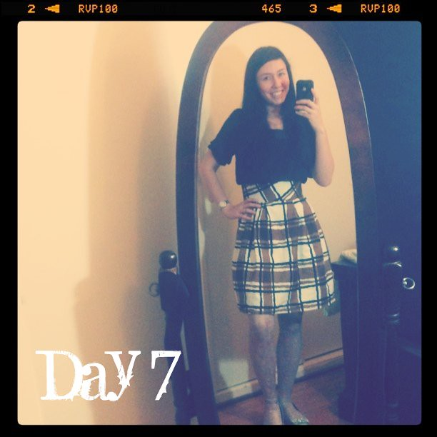 February Tights Challenge:Day 7: I finished my skirt!!!