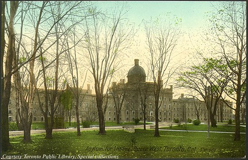 Asylum for Insane, Queen West, Toronto, Ontario, Canada (1910) by Toronto Public Library Special Collections