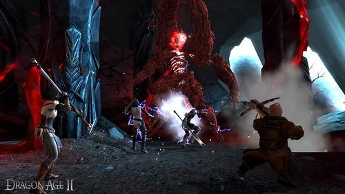 Dragon Age II looks like it's stepping out of Baldur's Gate's long