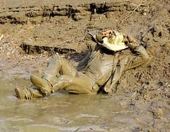 35 WS Kicking back in mud soaked excitement (Wrangswet) Tags: wet mud hiking wetlook wallow riverhike swimmingfullyclothed muddycowboy wetcowboy swimminginjeans muddycowboyboots mudwallow wetwranglerjeans muddywranglerjeans muddyswimmingfullyclothed