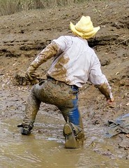 08 WS This mud is awesome dudes! (Wrangswet) Tags: wet canal hiking cowboyboots wetlook riverhike swimmingfullyclothed guysinwetjeans muddycowboy wetcowboy muddycowboyboots mudwallow wetwranglerjeans mudcanal menswimminginjeans mudwallowingcowboy muddywranglerjeans cowboybootsandspurs