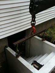 installing precast bulkhead