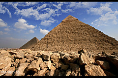 Giza Necropolis (MuLaN) Tags: world ancient pyramid great egypt cairo seven pyramids giza wonders khufu khafre the menkaure