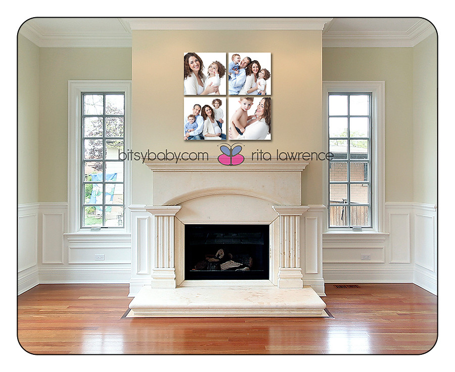 canvas display maternity family
