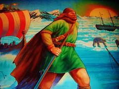 Viking (Elysia in Wonderland) Tags: world bear sea sun holiday mountains ice norway painting boat orlando epcot mural ship florida disney sword polar viking boar pavillion elysia maelstrom 2011
