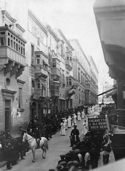Gallows Procession (McCarthy's PhotoWorks) Tags: street city history classic monochrome vintage war mediterranean unique glory malta historic sombre memory service pace procession rare giuseppe wartime gallows valletta execution gettyimagesmalta1