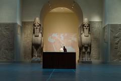 lamassu (branko_) Tags: art stone museum ancient panel near east relief gypsum eastern metropolitan mesopotamia lamassu assyrian alabaster babylonian ashurnasirpal nimrud neoassyrian