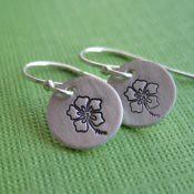Tiny Hibiscus Earrings