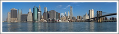 Downtown (NYC) (Paul Heskes) Tags: nyc newyorkcity travel usa newyork tourism sunshine architecture america skyscraper downtown cityscape skyscrapers pano streetphotography sunny landmark icon panoramic architectural financialdistrict brooklynbridge highrise eastriver newyorkskyline stitched thebeast fultonferry pier17 autostitched downtownmanhattan iconicimages famouslandmarks newyorkcityscape nikon2870mmf28 nikond700 newyorkpanoramic threeshotpanoramic hotdayinnewyork fultonferrylandingstage viewacrosstheeastriver