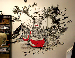 Nike-x-Wellgosh-Mono (Lord Leigh) Tags: art shop wall illustration breakfast pen ink mono artist air lord nike leigh airmax nikeair mista paintpen wellgosh intillation