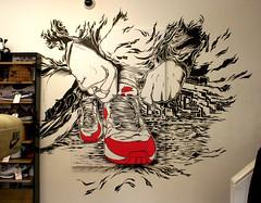 Nike-x-Wellgosh-Mono (Lord Leigh) Tags: art shop wall illustration breakfast pen ink mono artist air lord nike leigh airmax nikeair mista paintpen wellgosh intillation