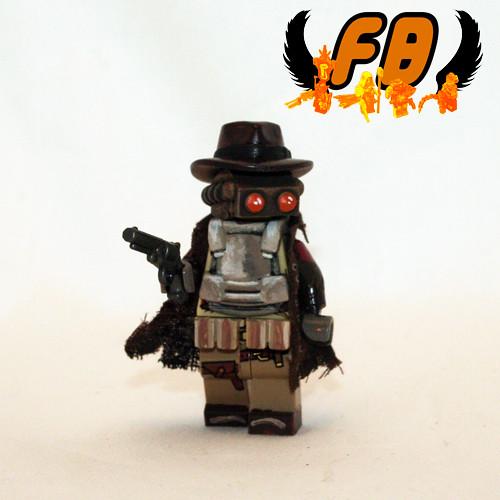 Custom minifig Paranormal Gunslinger custom lego minifigure