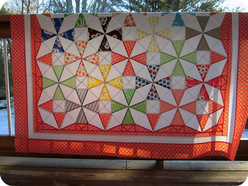 Saltwater Taffy Quilt - hanging