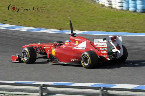 """Fernado Alonso, ferrari F150th Italia"""