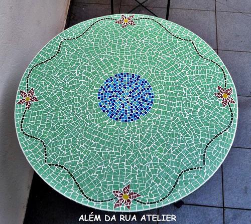 tampo de mesa de mosaico - floral