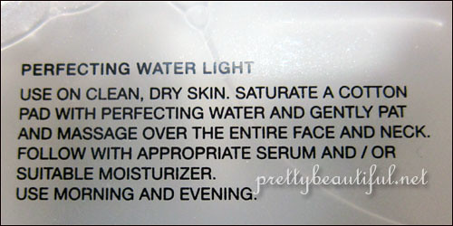 Laura Mercier Perfecting Water Light Usage