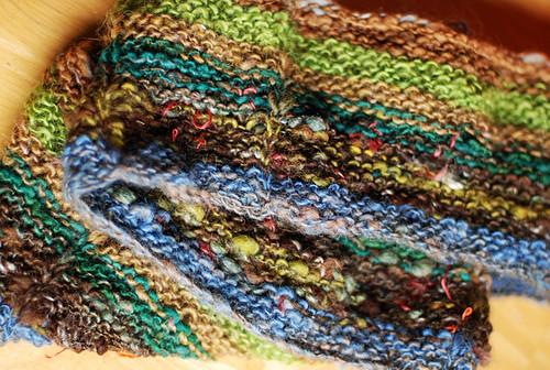 handspun garter stitch