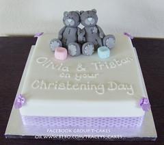 Tatty Teddy Joint Christening (Little Cherry Cake Company) Tags: christeningcake tattyteddychristeningcake