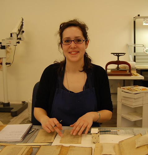 Emmanuelle Couvert, conservation intern, Smithsonian Libraries