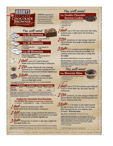 Hershey Brownie Mix Instructions