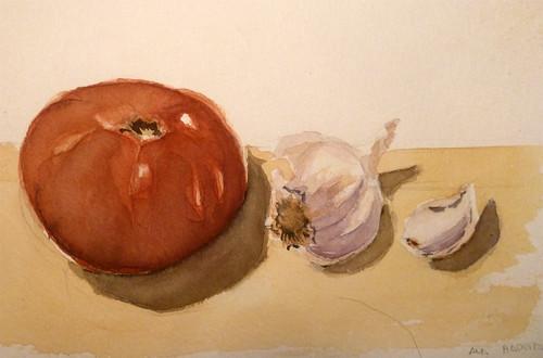 tomate y ajos