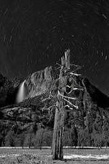 Upper Yosemite Fall Star Trail II, Yosemite, CA, USA