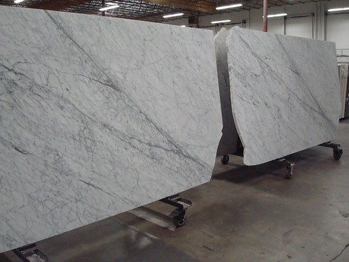 Carrara slabs side by side