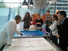 Kamel Hamadou & Henri Lely - Imprimeur sur soie/Silk printers. Hermes Festival of Crafts, February 23-28, 2011 | Bellevue.com