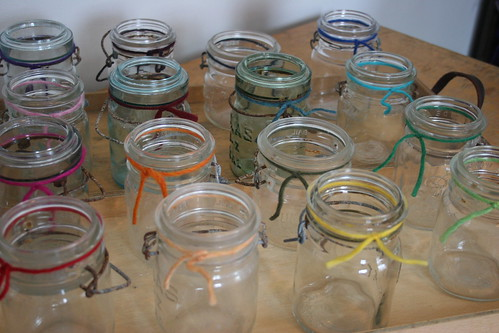 rainbow of jars