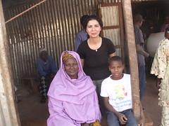 Avec Mahman et sa maman.