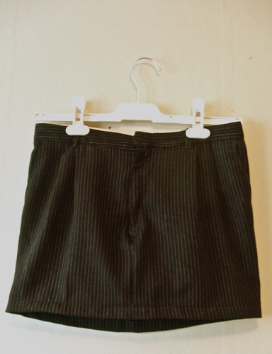 After: Pin striped skirt