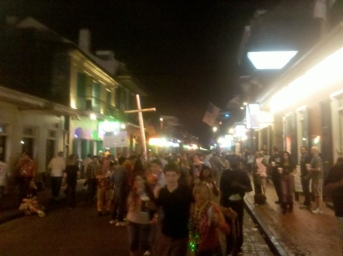 Bourbon Street on the first Saturday of Carnival