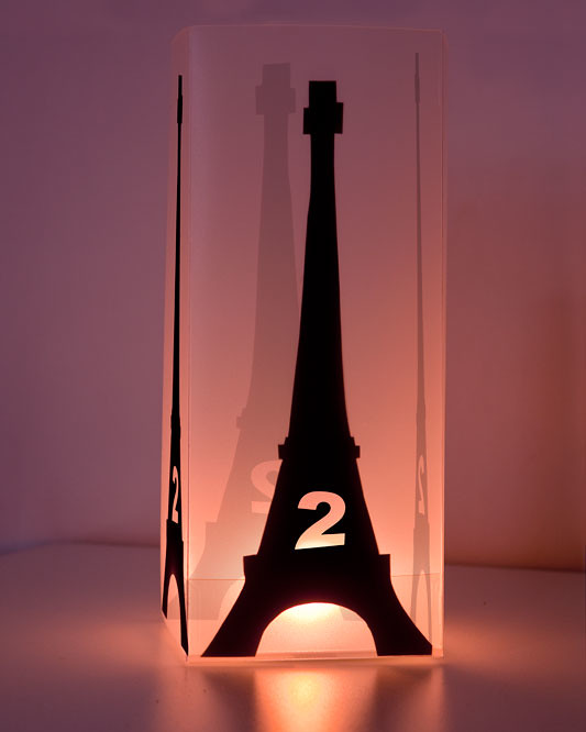 light box eiffel tower