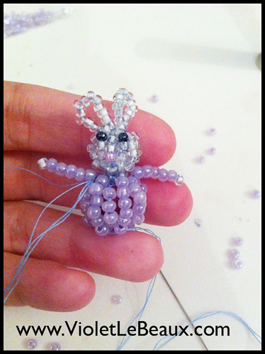 Bunny Beaded Phone Charm Tutorial