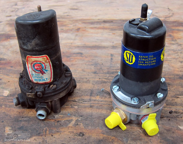 Old and New SU Fuel Pumps