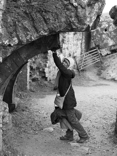 Fay holding up the collapsed arch