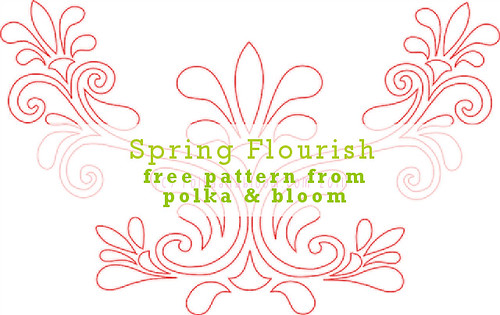 Spring Flourish - free embroidery pattern