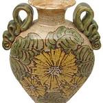 "<b>Sunflower Vase</b><br/> John Coiner LC '67 (stoneware, 2001) LFAC#2002:05:16<a href=""http://farm6.static.flickr.com/5299/5490279977_2edf76a4aa_o.jpg"" title=""High res"">∝</a>"