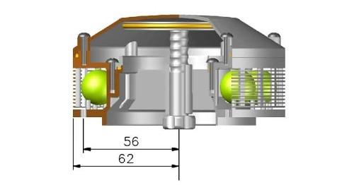 Вентилятор палубный в разрезе