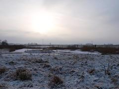 Scharnegoutum (Jeroen uit Sneek) Tags: blue sky sun snow ice nature netherlands sneeuw zuiko zon friesland ijs sneek scharnegoutum olympuse520 jeroenuitsneek natuurgebiedoertlangerek
