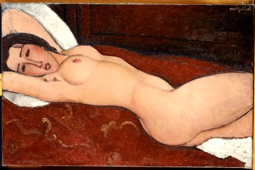 Modigliani, Amedeo (1884-1920) - 1917 Reclining Nude (Metropolitan Museum of Art, New York City)