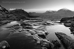 Watery Torridon (Tannachy) Tags: uk blue winter shadow sky white mountain snow black cold west ice water landscape scotland waterfall ross highlands stream europe britain united north scottish kingdom escocia clear burn british isles torridon ecosse wester coire