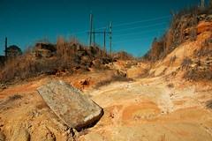 Georgia Soil (MilkaWay) Tags: sand rocks dam soil powerlines clay lakejackson georgiaredclay ruralgeorgia buttscounty