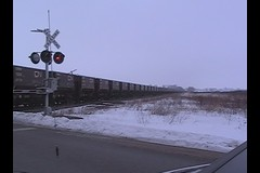 CN U781 empty ore with 200 cars (PaulVBox) Tags: railroad wisconsin cn train junction national medina ore candian jennies neenah es44dc sd70m2 sd75i