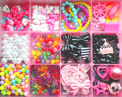 Charms (Hazel) Tags: hello pink black cupcakes candy heart emo kitty kitsch scene pearls bow kawaii sweets charms bows gumball cabochons